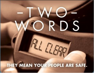 Two Words-All Clear-Red
